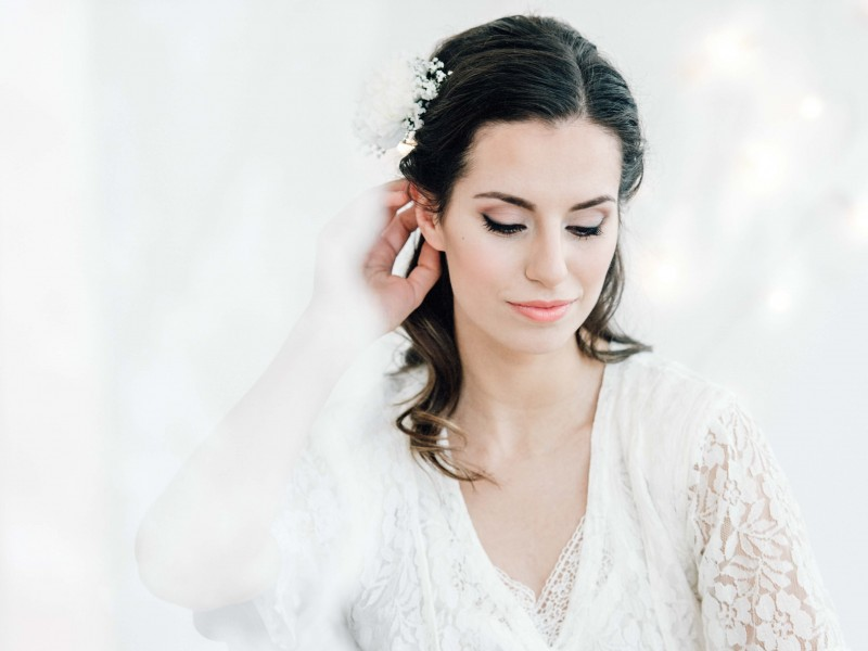 Natural Bridal Hair & Make-up Look