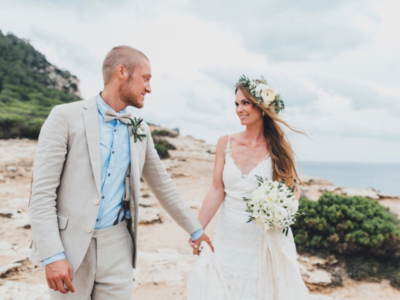 Saskia & Pierre Bohemian Bohemian Ibiza Wedding
